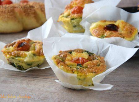 Muffin spinaci e pancetta