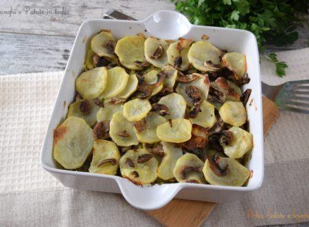 Funghi e patate in teglia