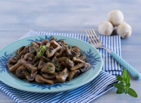 Funghi champignos in agrodolce