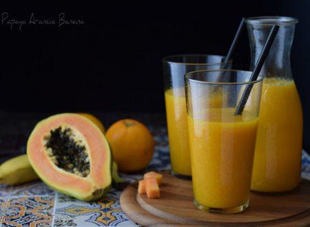Papaya arancia banana il succo del benessere