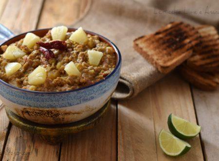 Lenticchie lime e ananas – sfizi in tavola, ricetta facile