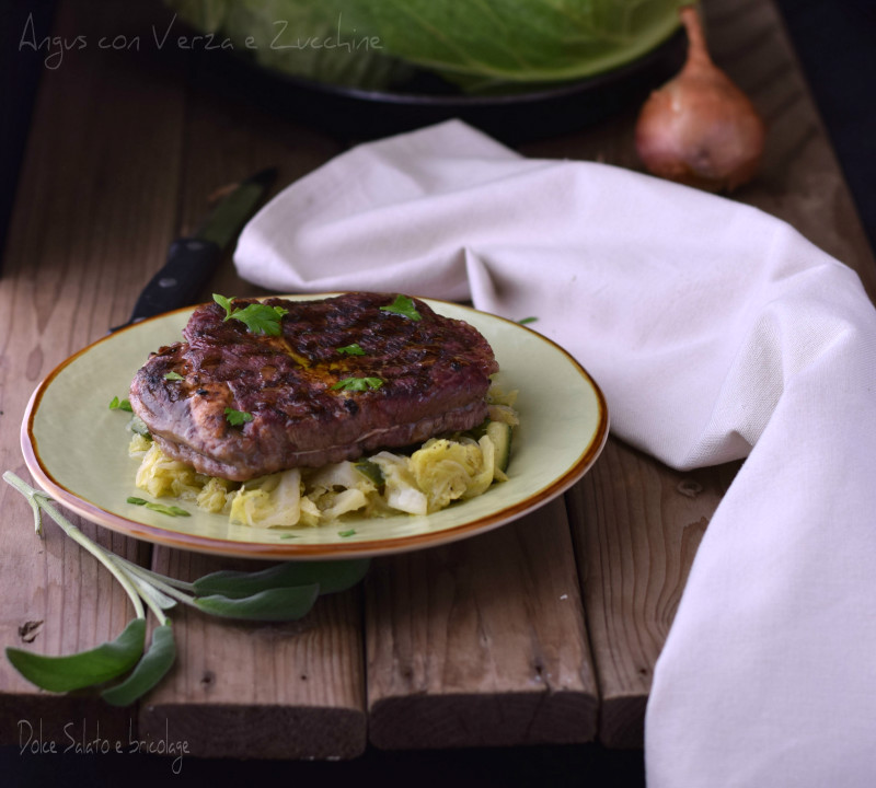 Angus con verza e zucchine - secondo piatto succoso