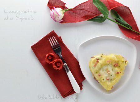Lasagnette allo speck ricetta per due