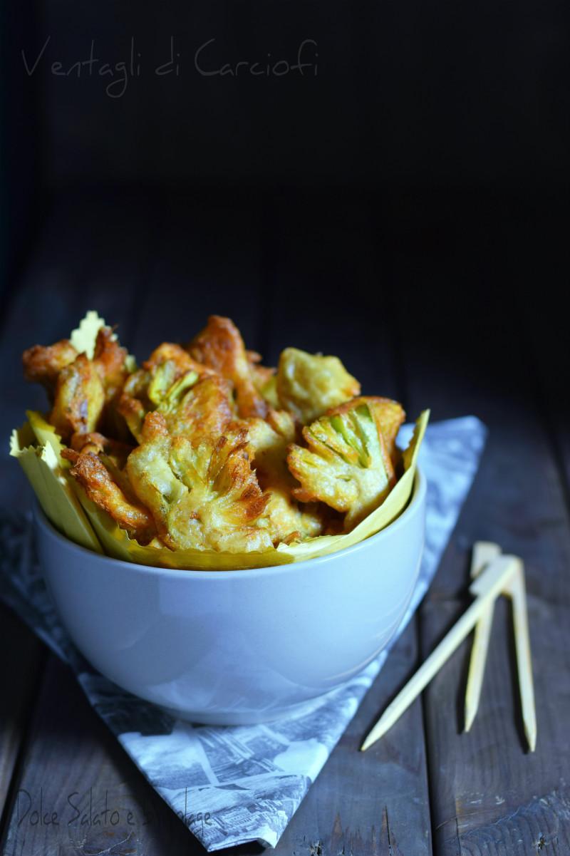 ventagli di carciofi fritti
