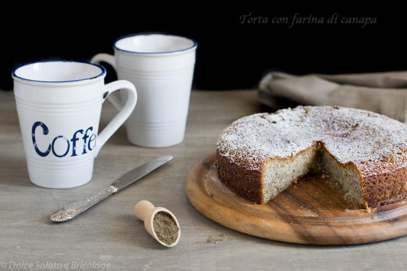 Torta Semplice con Farina di Canapa, Ricetta Vegana e Senza Glutine