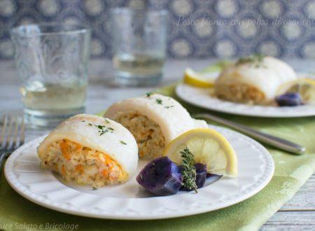 Pesce bianco con polpa di granchio, ricetta per due