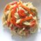 Crioli molisani con crema di melanzane e peperoni arrostiti
