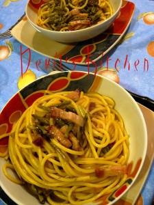 Spaghetti Asparagi e pancetta