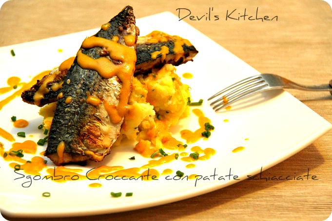 Sgombro Croccante con patate schiacciate