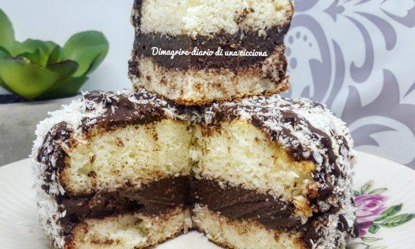 Pancake light al cocco e crema