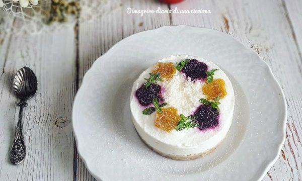 Cheesecake di anacardi con crema di skyr