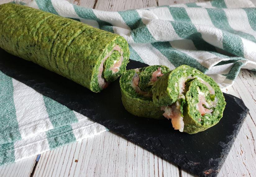 Rotolo salato con salmone