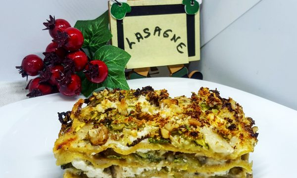 Lasagne integrali con ricotta light e noci