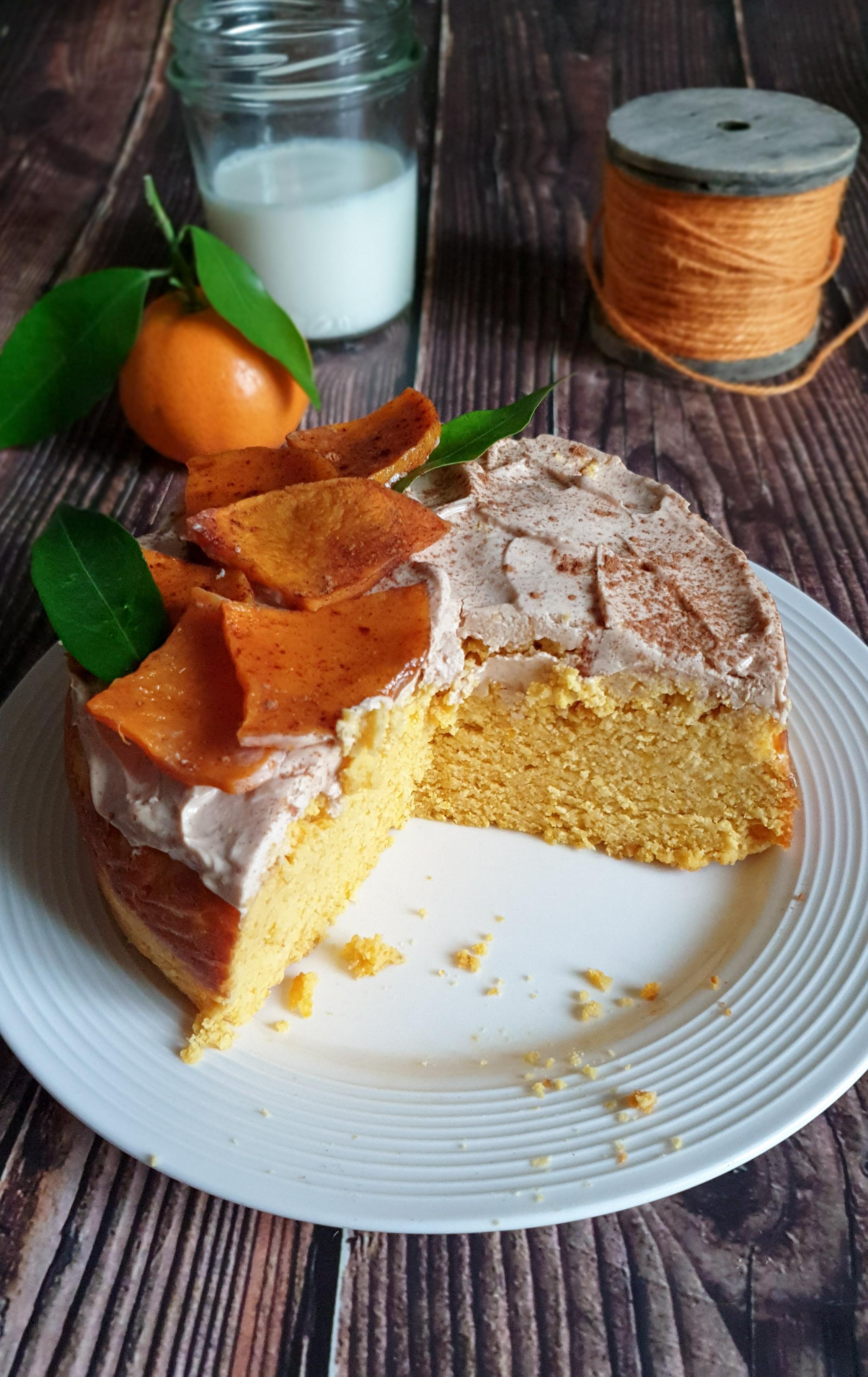 Torta proteica di zucca