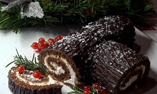 Tronchetto di Natale al cioccolato fondente