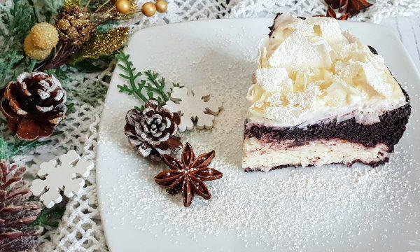 Cheesecake leggera al brownie e cocco