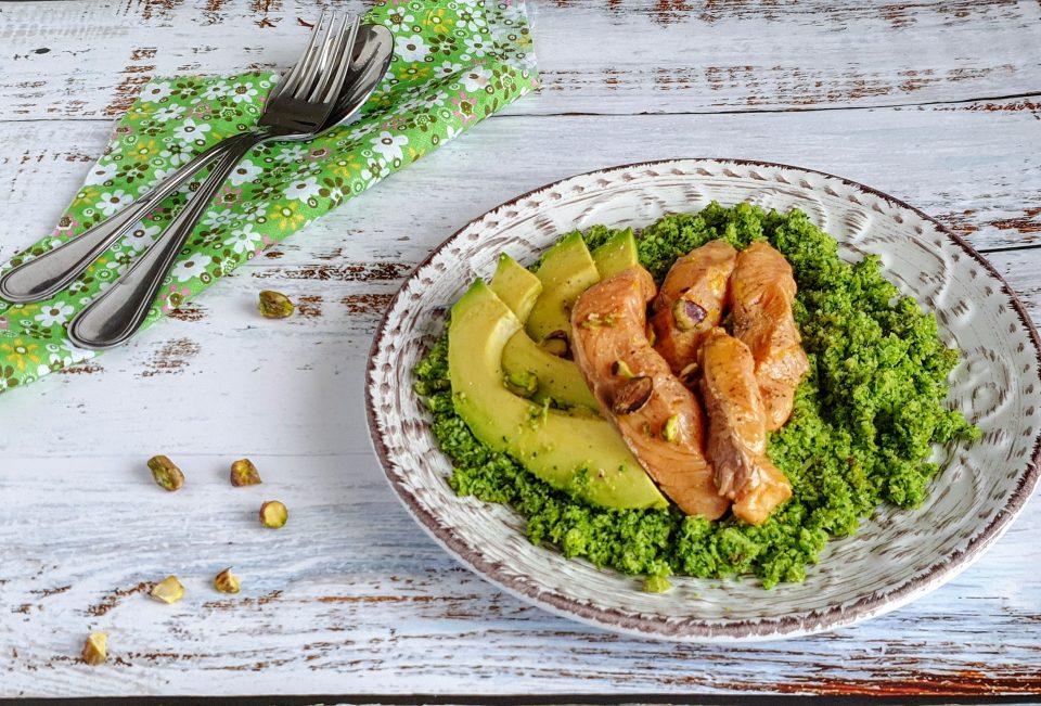 Couscous di broccoli con salmone