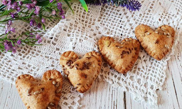 Biscotti integrali ripieni di salmone