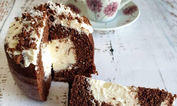 Mug cake light senza glutine con cuore di yogurt