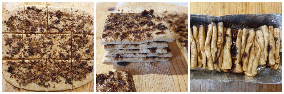 Preparazione del pull apart bread