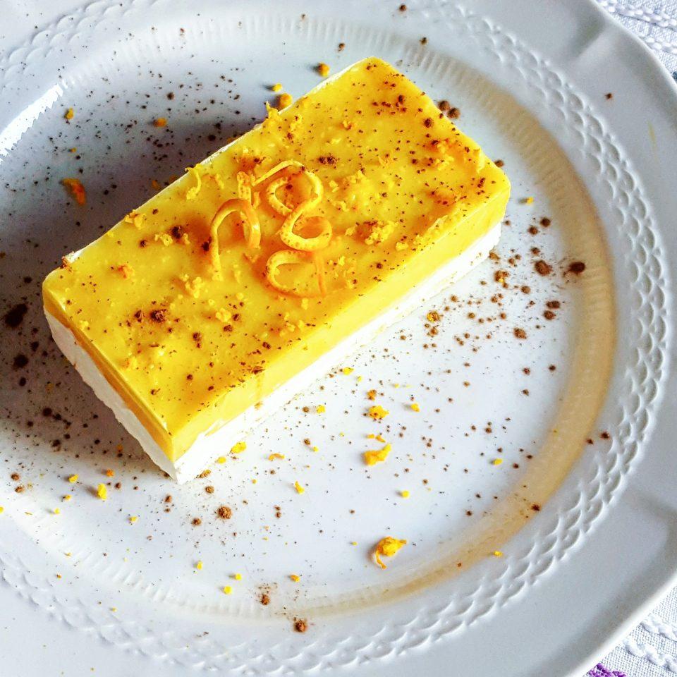 Fetta con arancia e crema