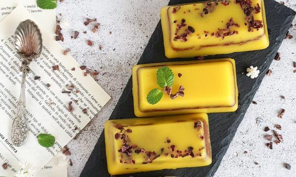 Plumcake integrali al cacao e arancia