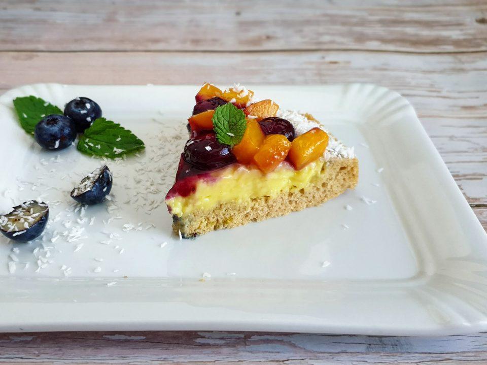 Crostata light crema e frutta