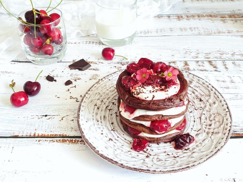 Pancake light al cioccolato fondente