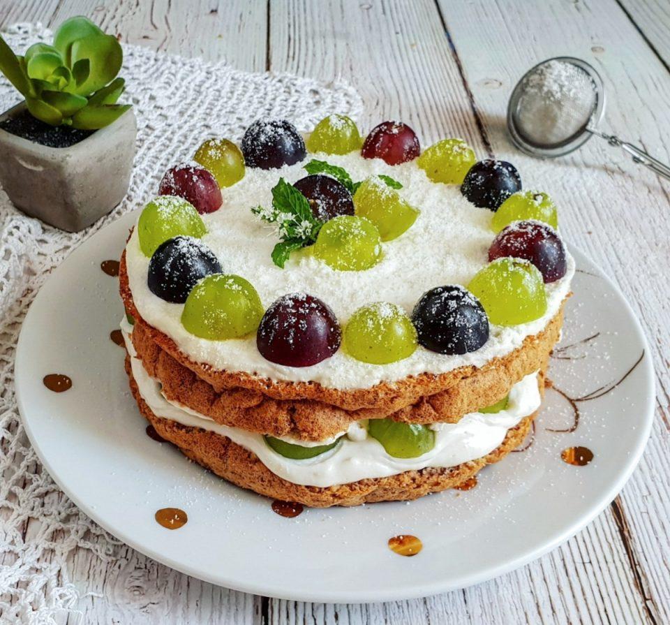 Torta light all'uva
