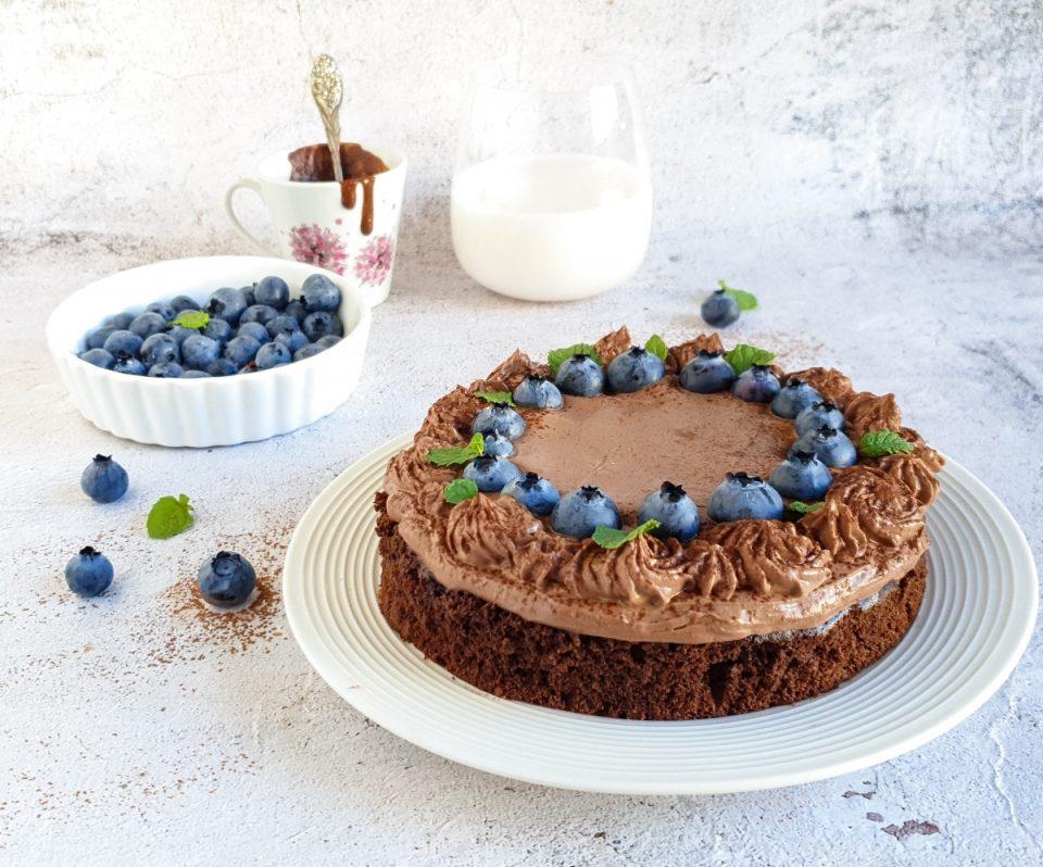 Torta light con mirtilli