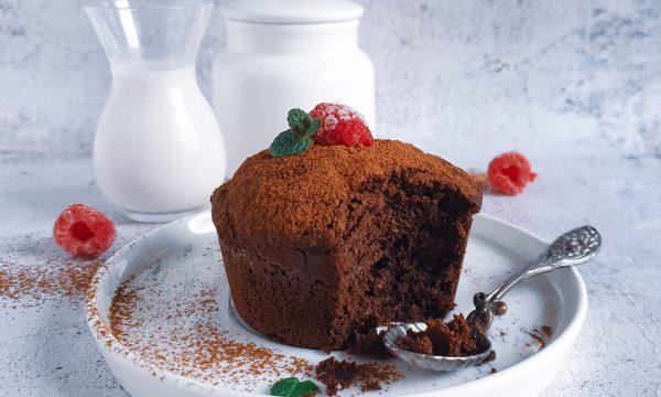 Mug cake light senza farina cotta a bagnomaria