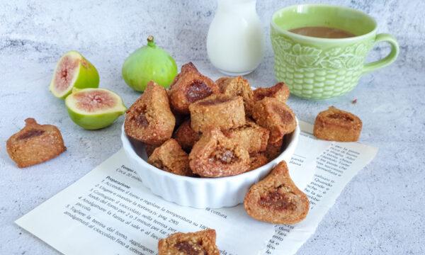 Biscotti integrali con marmellata di fichi