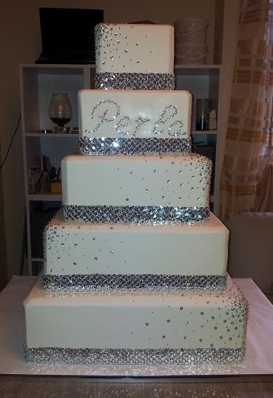 Matrimonio Tema Brillantini : Decorazione torta scintillante anni matrimonio