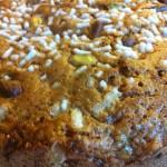 torta dolce di zucchine  e pistacchi