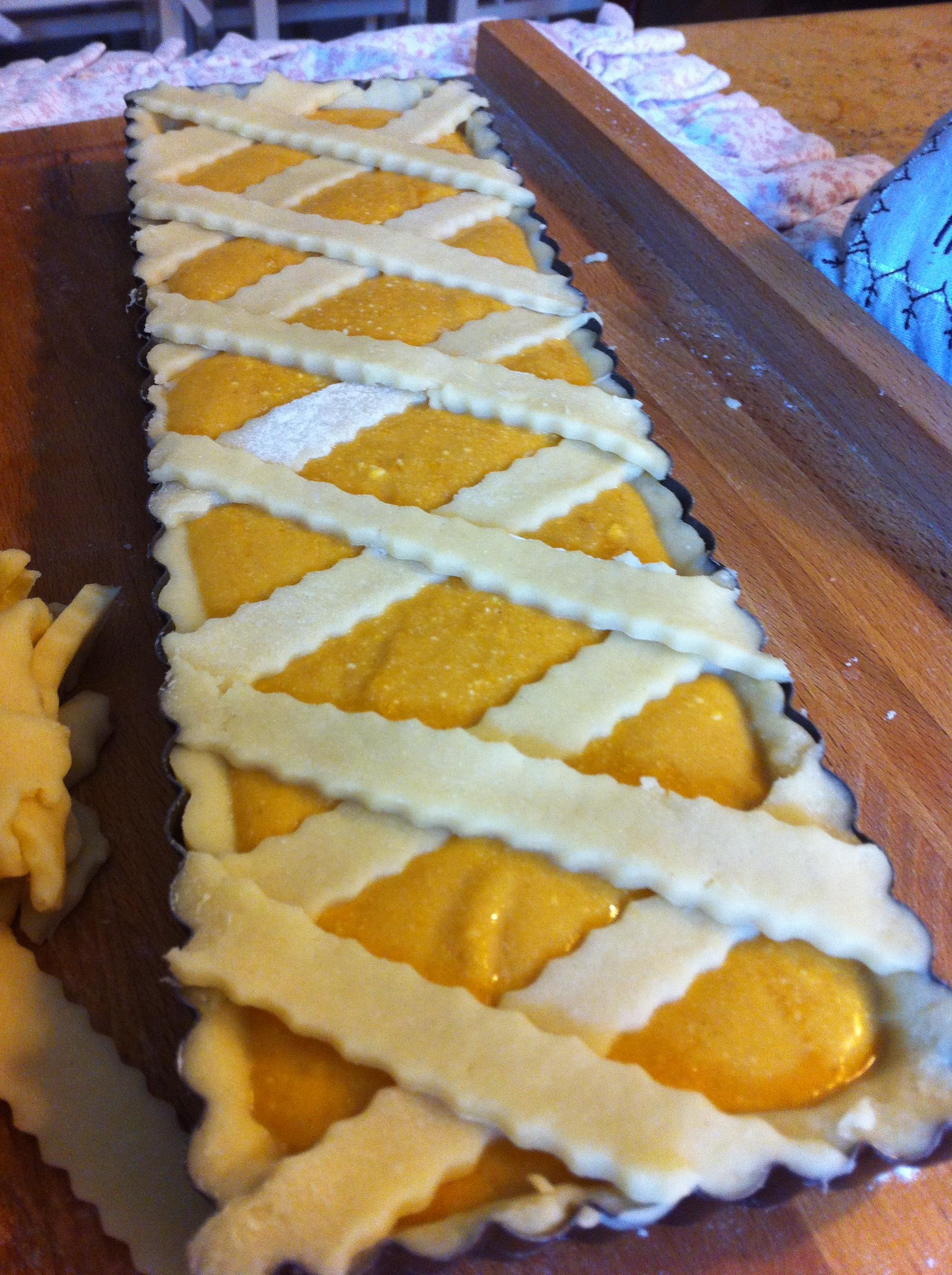 crostata dolce di ricotta e zucca