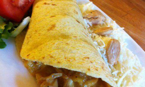Tortillas di pollo al curry