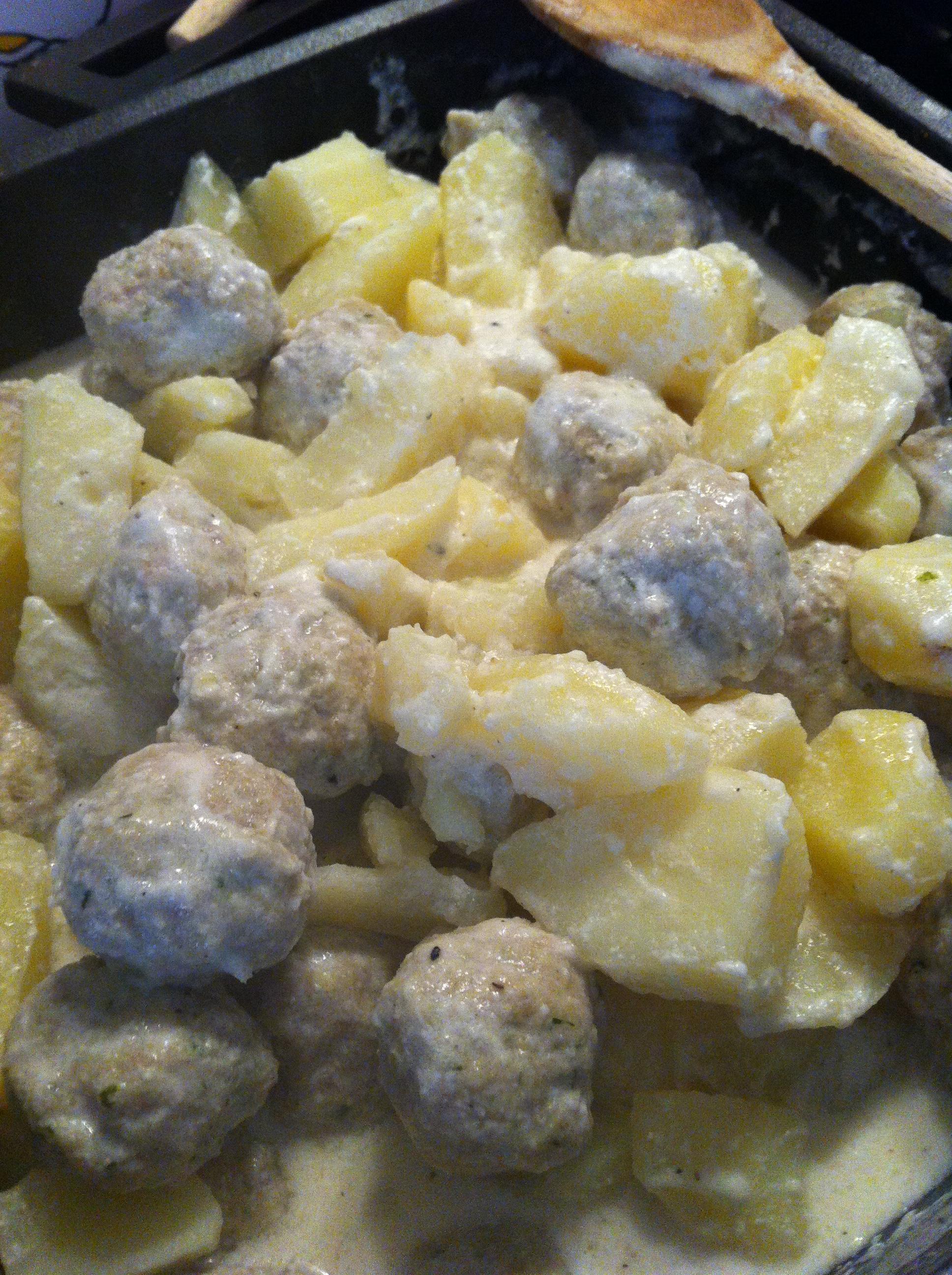 polpettine di pollo al latte di cocco e patate