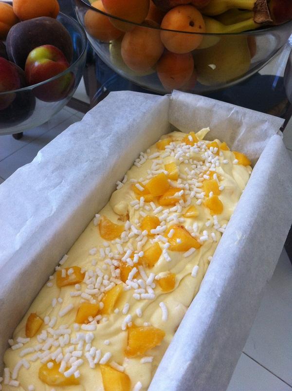 plumcake ricotta e pesche