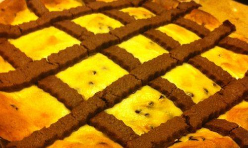 Crostata al cioccolato con ricotta e gocce di cioccolato