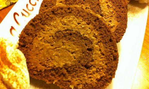 Cheesecake al cioccolato arrotolato