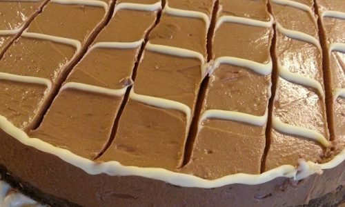 Cheesecake ai due cioccolati