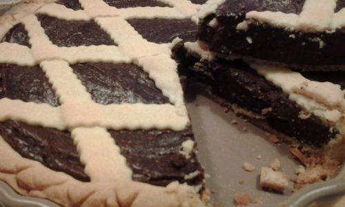 Crostata con cremoso al cioccolato