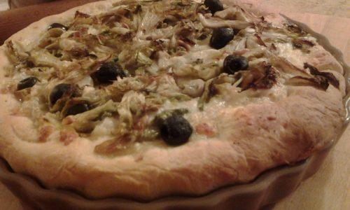 La pizza napoletana con la scarola