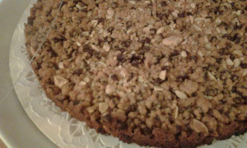 Torta cookies gigante con gocce di cioccolato
