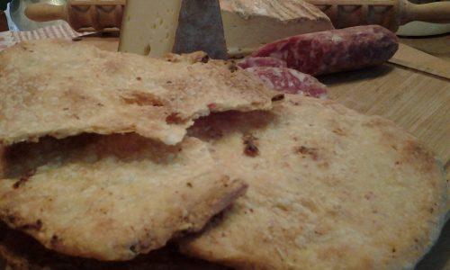 Schiaccine croccanti con pancetta e porri