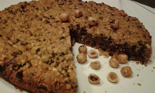 Torta cookies con gocce di cioccolata e Nutella