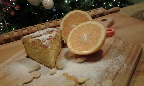 Torta morbida arancia e mandorle