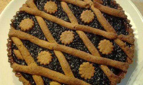 Crostata integrale alle pesche gialle