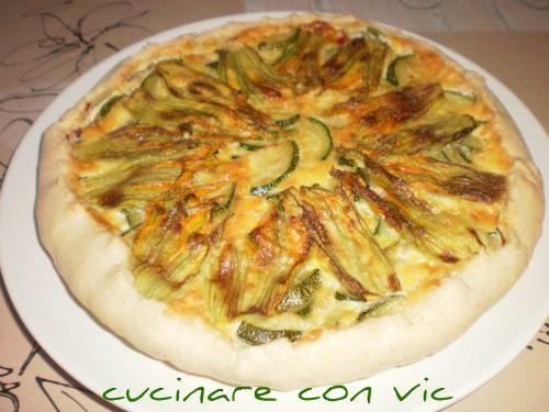 Torta salata con zucchine,fiori e…