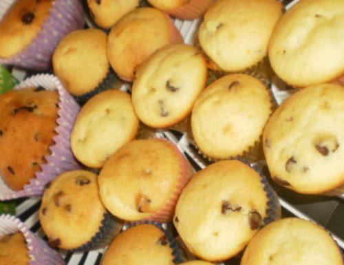 Muffins ricotta e gocce di cioccolato